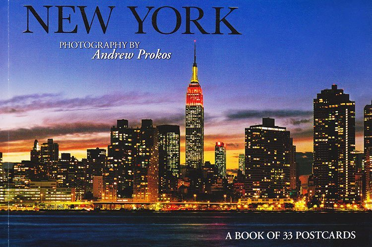 new york by andrew prokos postcard book cover