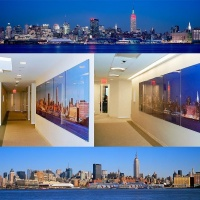 Large scale panoramas of New York City by day and by night photographed by Andrew Prokos for Cisco Systems Inc.