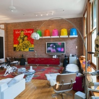 Soho art collector's loft photographed by Andrew Prokos