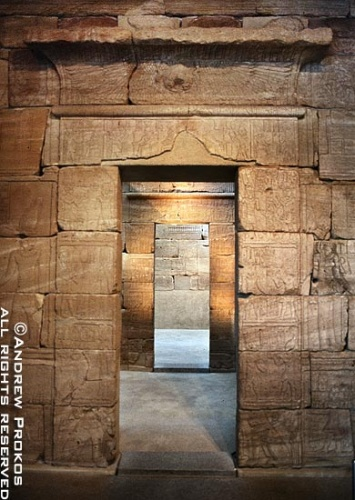 The inner sanctum of the Metropolitan Museum's Temple of Dendur, New York City