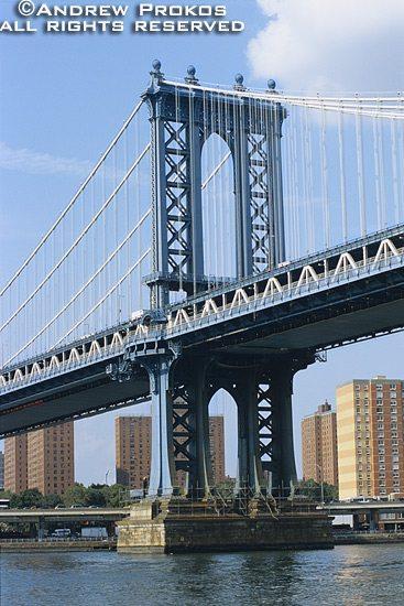 A view of the Manhattan Bridge, New York City