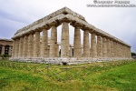 A view of the ancient Temple of Poseidon at Paestum, Italy