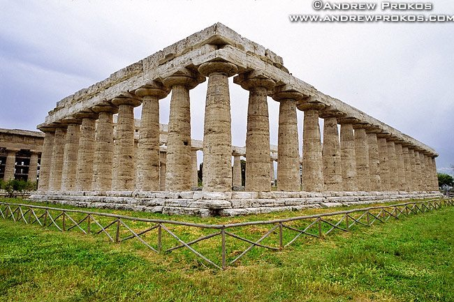 The Temple of Poseidon at Paestum, Italy