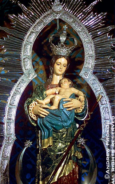 A Spanish Madonna and Child from a church in Madrid, Spain