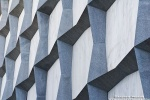 An architectural detail from the facade of Yale University's Beinecke Library