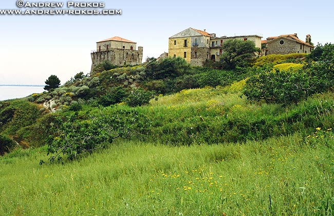 A landscape with rustic houses, Campania, Italy