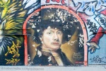 A street mural of the painter Rembrandt, NYC