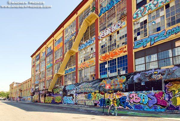 Facade of Crane Street Artist's Studios and 5-Pointz Graffiti Exhibit, Long Island City.