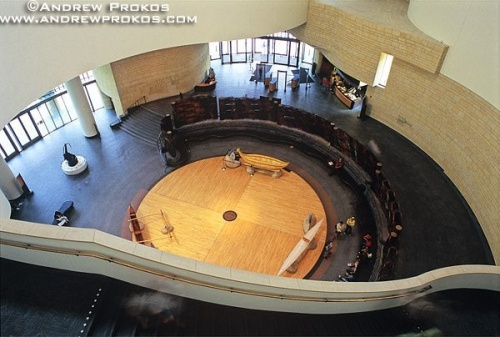 Interior view of the National Museum of the American Indian, Washington DC