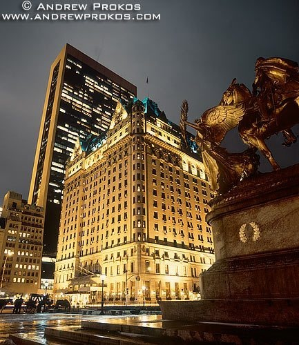 plaza hotel night view
