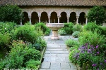 Garden of the Cuxa Cloister in New York's Cloisters Museum