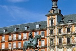 A view of the Plaza Mayor during the day, Madrid, Spain