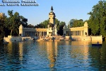 A view of the Estanque in Buen Retiro Park, Madrid, Spain