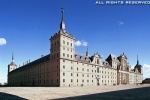 Exterior view of the monumental Escorial Palace, Escorial, Spain