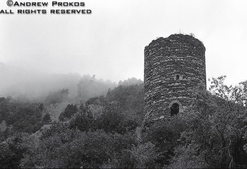 stone tower ruins landscape