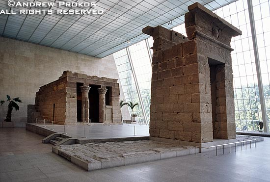 The Temple of Dendur in the Metropolitan Museum's Egyptian Wing, New York City