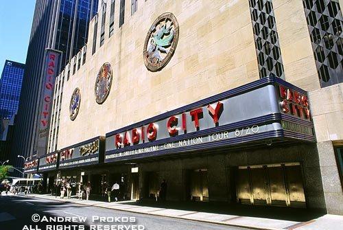 The exterior of Radio City Music Hall, New York City