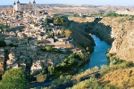 A view of the Alcazar of Toledo and the Tajo River, Spain