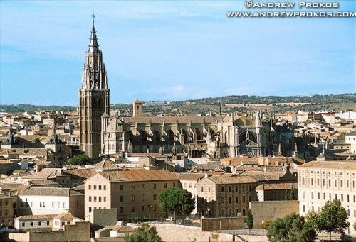 A view of the Gothic cathedral of Toledo, Spain
