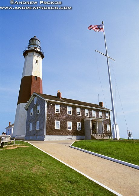 A niew of Montauk Point Lighthouse, Long Island, New York