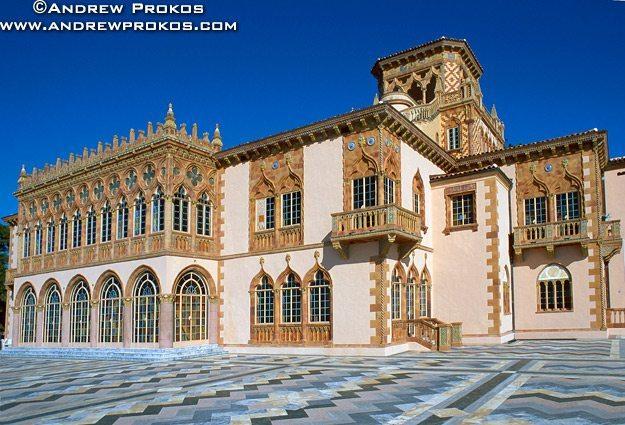 View of the Ca D'Zan Mansion, Sarasota, Florida