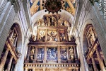 Interior of the royal basilica at El Escorial, Spain