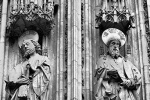 gothic cathedral portal saints
