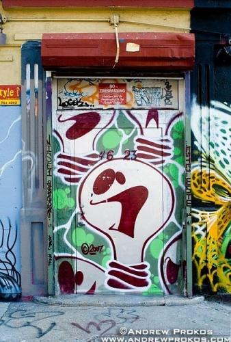 nyc door mural
