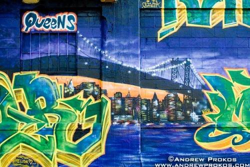 skyline street mural nyc