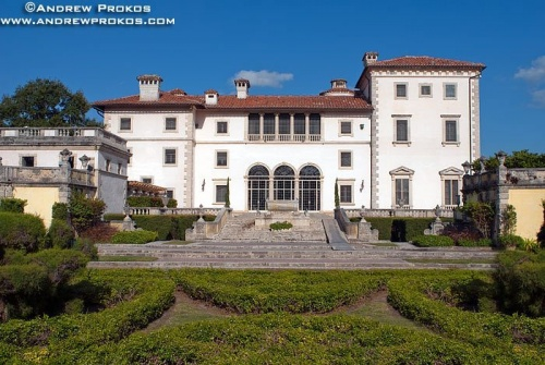 A view of Vizcaya Museum and it's gardens, Miami, Florida