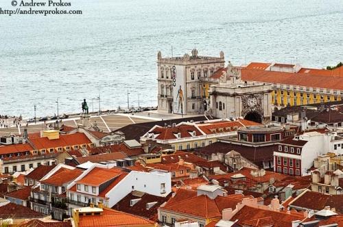 A view of the Praca Do Comercio in Lisbon, Portugal