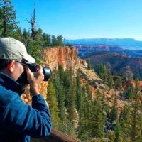 Photographer Andrew Prokos Shooting in Bryce Canyon Utah