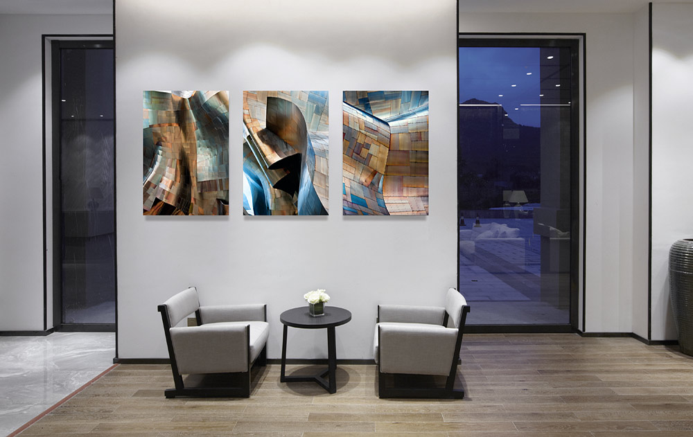 "Gallery Mounted Architectural Photos from the series ""Gehry's Children"" by Photographer Andrew Prokos"