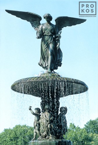 The Angel Fountain at Bethesda Terrace in New York's Central Park