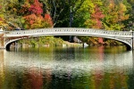 A large-format fine art landscape photo of Bow Bridge in Autumn, Central Park, New York City