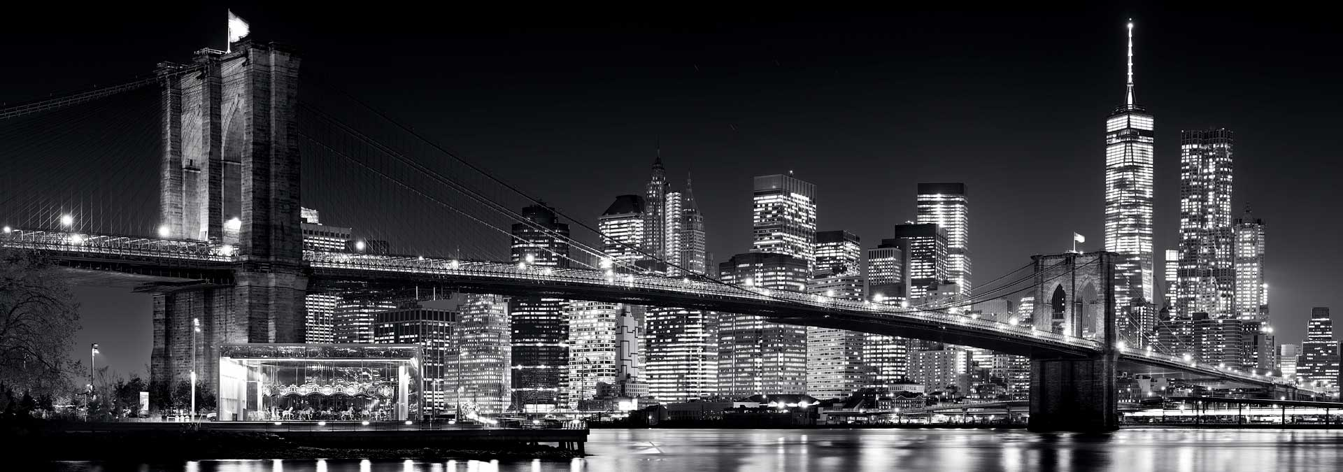Black and white cityscape and skyline photographs of New York City – large-format gallery prints framed in various styles