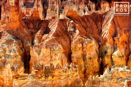 A landscape photo of the colorful Hoodoos (rock pinnacles) found at Sunset Point in Bryce Canyon, Utah