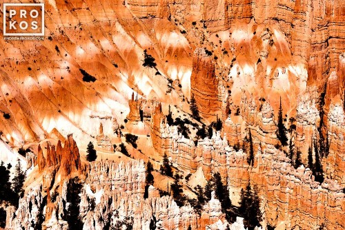 A landscape photo of the colorful rock formations at Bryce Point in Bryce Canyon National Park, Utah