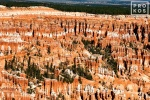 A landscape photo of the colorful rock pinnacles in Bryce Point in Bryce Canyon National Park, Utah