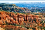 A panoramic landscape photo of Bryce Canyon from Sunset Point in the morning. Large-format fine art prints of this photo are available up to 120 inches wide.