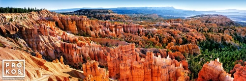 A large-format fine art landscape photo of the view of Bryce Canyon, Utah from Sunset Point