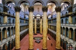 An architectural interior photo of the National Building Museum, Washington DC
