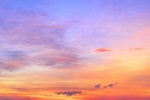 A large-format panoramic landscape photo of the sky over Cape Cod at sunset