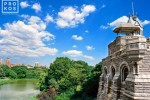 A landscape photo of Belvedere Castle in Central Park, New York City
