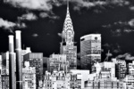 A large-format black and white photograph of the Chrysler Building from Andrew's fine art series Inverted.