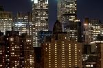 A panoramic fine art photo of Midtown Manhattan and the Chrysler Building at night, by photographer Andrew Prokos