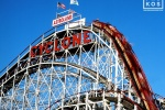 A fine art photo of Coney Island's famous Cyclone rollercoaster in Brooklyn, New York