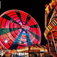 CONEY ISLAND WONDER WHEEL NIGHT PX