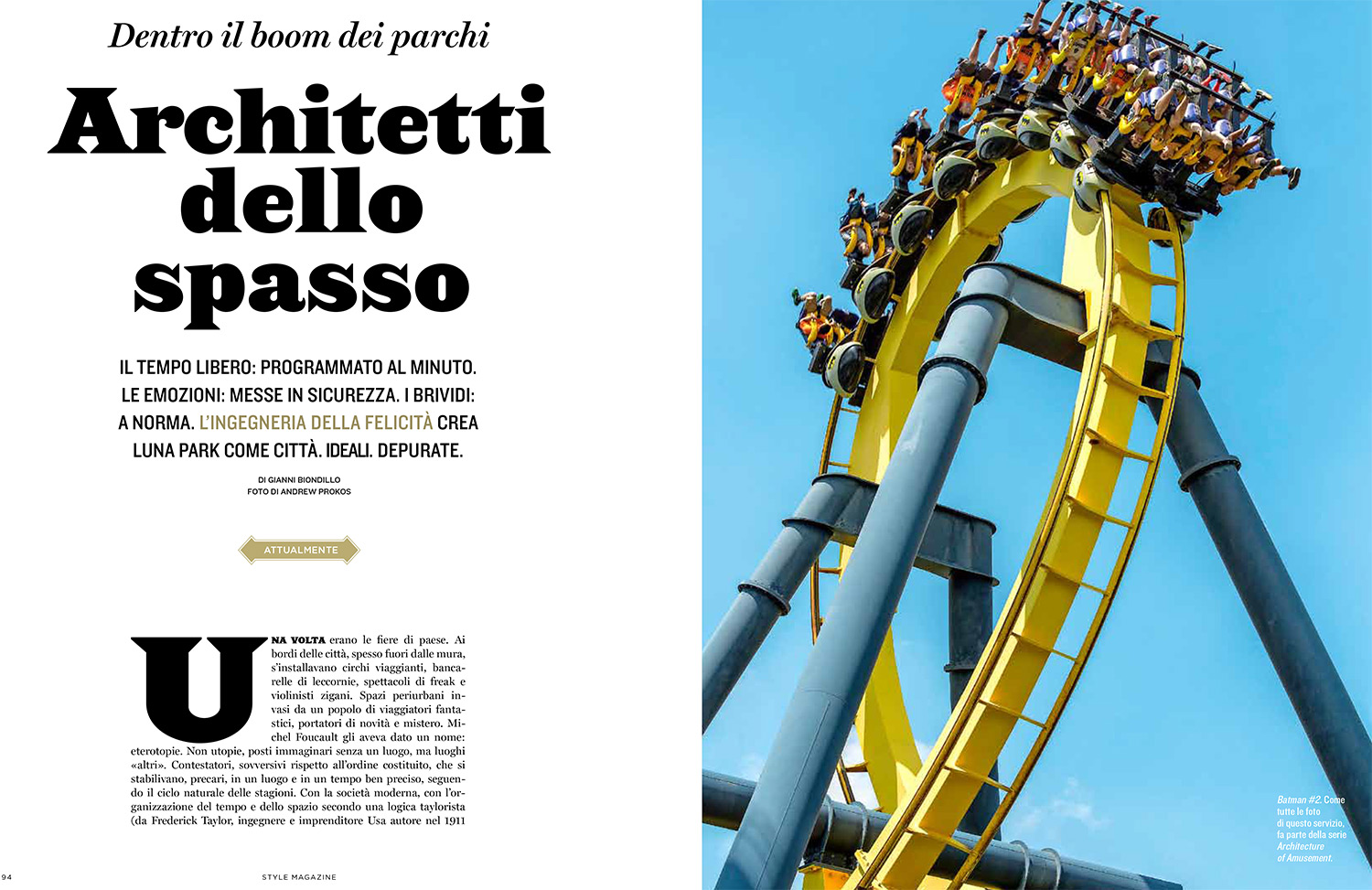 The Architecture of Amusement - Corriere della Sera Style Magazine
