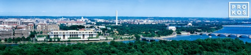 A panoramic aerial view of Washington DC during the day